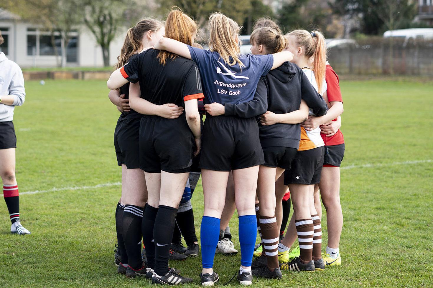 Teamkreis Rugby Mädchen