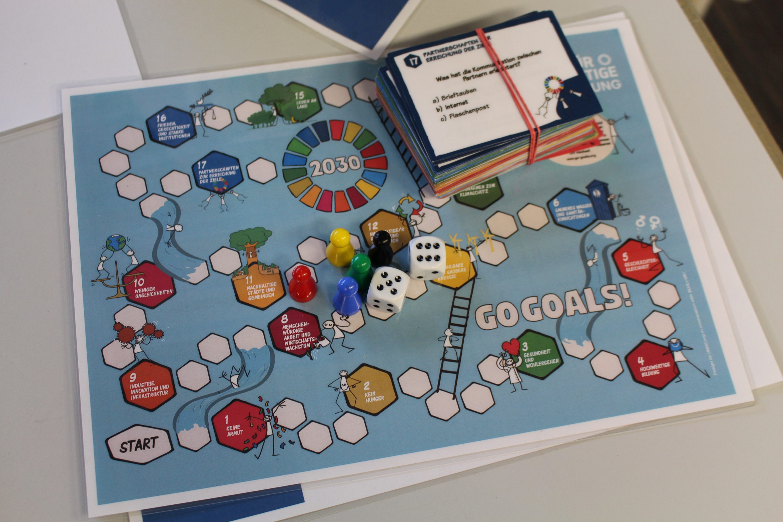 Spielbrett und Spielmaterial GoGoals